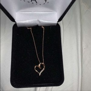 Rose Gold 10k Karat Heart Necklace
